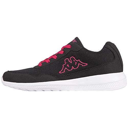 Kappa Follow, Sneaker Unisex – Adulto, Nero (1122 Black/Pink), 40 EU