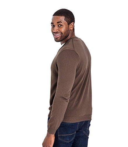 WoolOvers Strick-Pullover mit V-Kragen - unisex - Herren (Cotton-Cashmere) - C23 Mocha