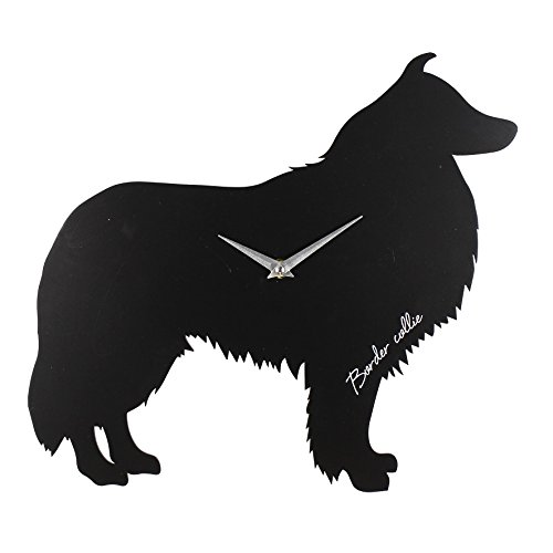 best-of-breed-silhouette-orologio-da-parete-in-mdf-35-cm-motivo-border-collie