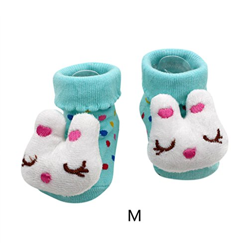 Vovotrade 15 verschiedene Karikatur Neugeborene Baby Jungen Anti Rutsch Socken Hefterzufuhr Schuh Aufladungen (M) (Baby-mädchen Neugeborenen-nike Schuhe)