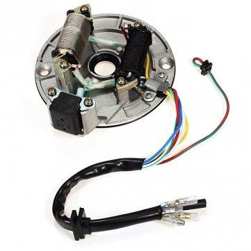 [Kostenlose Lieferung] pit Dirt Bike Teile Magneto Coil Zündgrundplatte für 110cc 125ccm SUVs // Pit Dirt Bike Parts Magneto Coil Stator Plate for 110cc 125cc SUVs