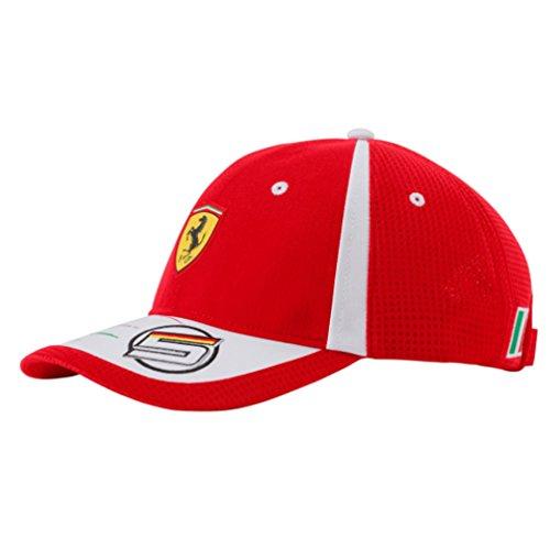 FERRARI F1 Erwachsene Ferrari Vettel Baseball 2018 Cap, Rot/Weiß, onesize