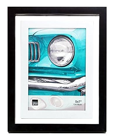 Kiera Grace 10,2cm par 15,2cm City Float Frame, noir, 5 by 7-Inch
