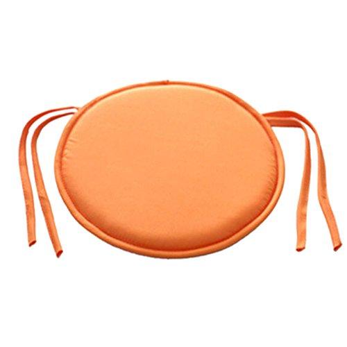 Emvanv cuscino rotondo imbottito per sedia, da interno, per sala da pranzo, giardino, casa, ufficio e cucina, orange, taglia libera