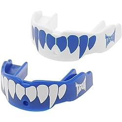 Protector Bucal Colmillos - Pack 2 Unidades - Talla Junior - Color Azul y Blanco