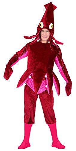 Karneval-Klamotten Oktopus Kostüm Erwachsene mit Oktopus Hut Einheitsgröße (Krake Kostüm Baby)