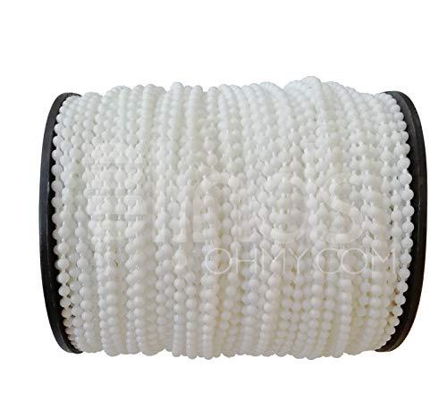 Rullo e romana, tenda con perline catena corda 8#, bianco plastica tenda avvolgibile riparazione 4x 6mm, tenda a rullo con corda, tenda con perline corda per tenda a rullo,, 100 yards