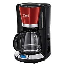 Russell Hobbs Colours Plus+ Macchina del caffè Americano, 1100 W, 1.25 Litri, Acciaio Inox, Rosso