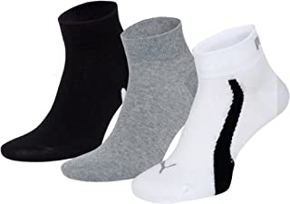 Puma Lifestyle - Chaussettes de Sport - Lot de 3 - Graphique - Mixte Adulte - Homme - Multicolore (Blanc/Gris/Noir) - 43-46 EU (B003WIZE8K) | Amazon Products