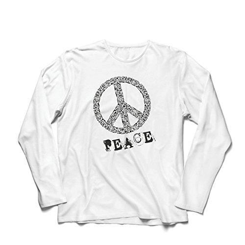 ren t Shirts FRIEDENSsymbol - 1960er Jahre 1970er Jahre Hippie Hippie, Street-Kleidung, Friedenszeichen, Sommer Festival Hipster Swag (XXX-Large Weiß Mehrfarben) (Einfach 60er Jahre Kostüm Ideen)