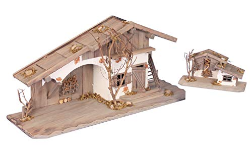 2 x Holzhaus 80cm + 27cm + Krippe Zubehör
