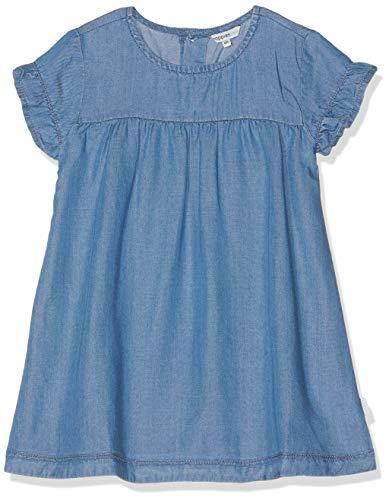 Noppies Baby-Mädchen G Dress Poulsbo Kleid Blau (Light Blue Wash P045) 62 (Blaues Mädchen Kleid Für)
