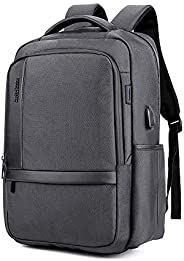 Dumcuw Professional Laptop Backpack, Large Stylish Anti-Theft Business Travel Rucksack with USB Charging Port