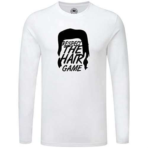 Just Another Tee Respect The Hair Game Eugene Mullet Dead Zombie Quote Men's Long Sleeve Shirt