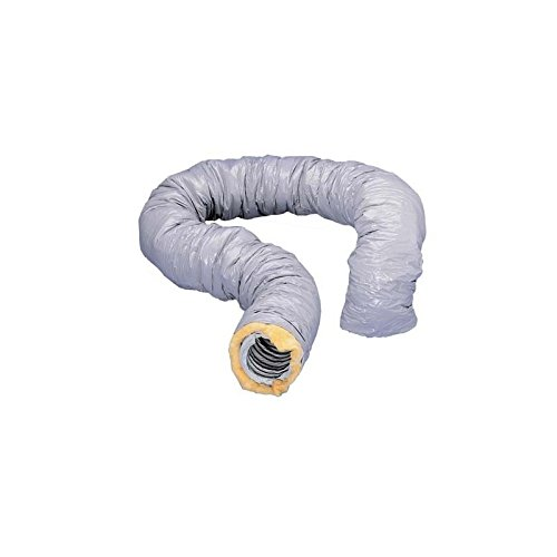 gaine de ventilation isolée - pvc - diamètre 125 mm - 6 mètres - atlantic 423053