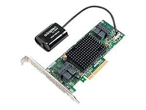 Adaptec Contrôleur de stockage de 2942355(8x PCI-e 3.0, SATA III, SAS, mémoire 1Go, RAID 0/1/5/6/10/50/1e/60)