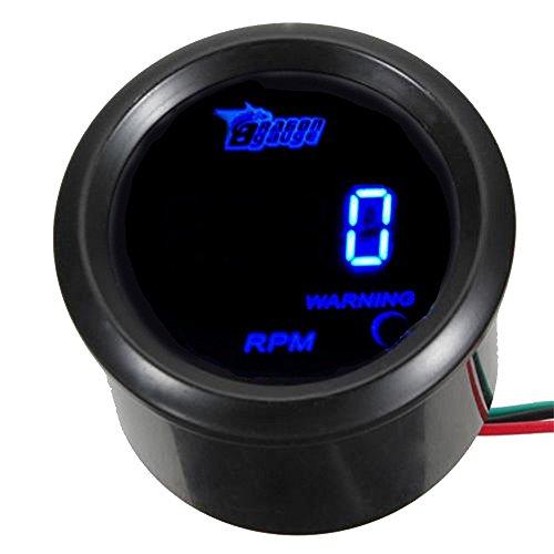 """Mintice™ Universal 2"""" 52mm Auto KFZ Drehzahlmesser Blau LED Licht Anzeige Digital RPM Instrument Messgerät"""