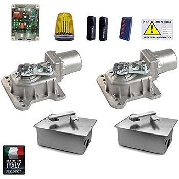 Motori Per Cancelli A Due Ante Faac.Kit Completo Interrato 230v Cancello Battente 500 Kg 3 5m Faac