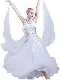 Tenue de Danse de Compétition Robe de Danse de Salon pour Femme avec Strass  Valse Moderne 40be6f444de