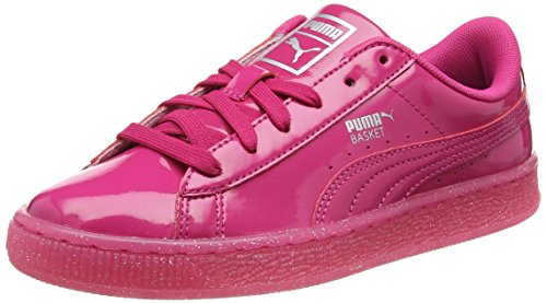 Puma Unisex-Kinder Basket Patent Iced Glitter Jr Low-Top Violett Beetroot Purple 01, 39 EU