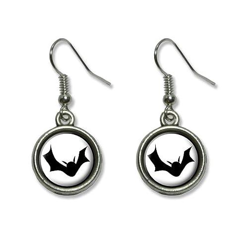 Bat Boucles d'oreilles d'oreilles Graphics and More Halloween de