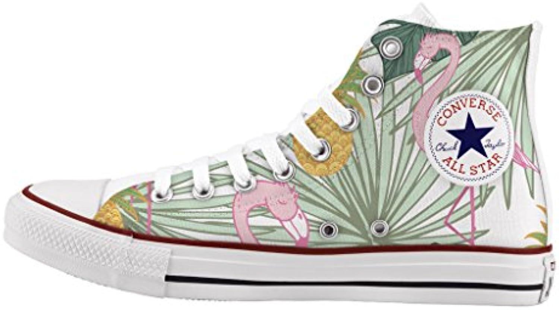 Converse Personalizados e impresos - zapatos de artesanía - Flamingo -