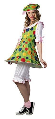 Fancy Ole - Damen Frauen Kostüm Clown Fiesta- Punkte , Mehrfarbig, M (Magier Kostüm Frauen)