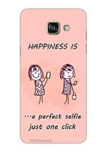 MiiCreations 3D Printed Back Cover for Samsung Galaxy A5 (2016),Happiness Quotation