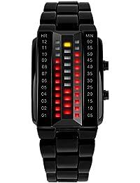 SKMEI - Reloj Digital Impermeable con LED Luz Relojes de Pulsera Resistente al Agua Banda de