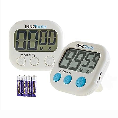 InnoBeta Digitale Küchentimer (Verbesserte Version), Stoppuhr & Timer-Funktion, Einstellbare Alarmlautstärke,