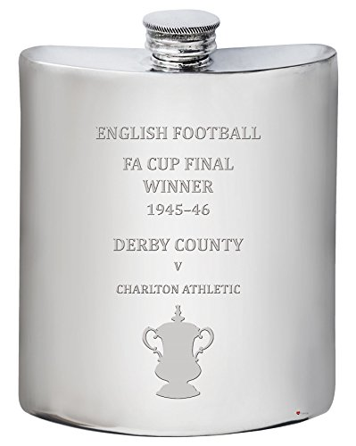Derby County English FA Cup Winner 1945-46, 6oz Pewter Hip Flask Derby-cup