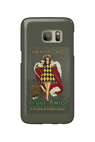 Veuve Amiot - Cremant du Roi (artist: Leonetto Cappiello) France c. 1922 - Vintage Poster (Galaxy S7 Cell Phone Case, Slim Barely There)
