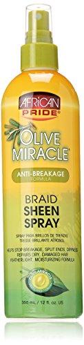 African Pride Olive Miracle Braid Sheen Spray 355ml