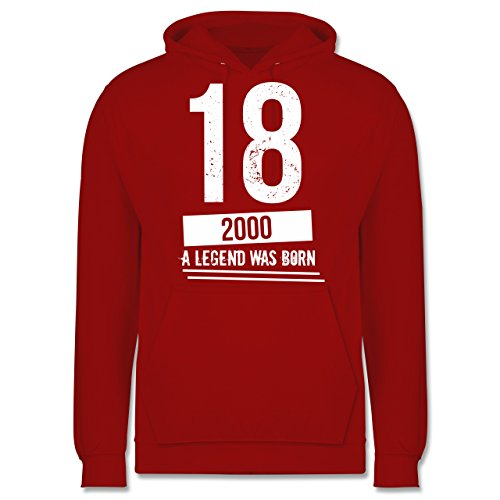 Geburtstag 18 Geburtstag Jungs Herren Hoodie Rot -ergonomis.eu 28ce8a5f7b