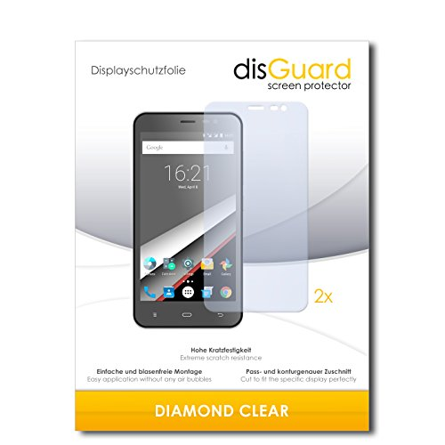 2 x disGuard® Bildschirmschutzfolie Phicomm Clue L Schutzfolie Folie
