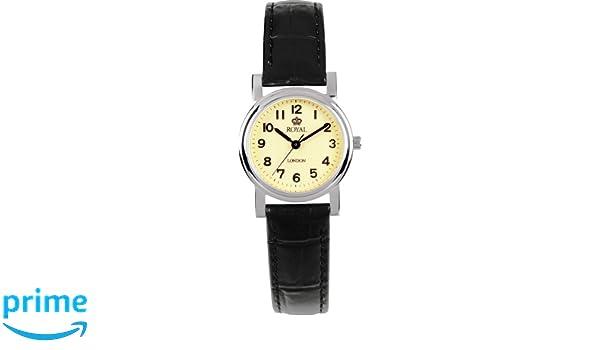 Damen 20000 Schwarz London Analog 03 Royal Armbanduhr Leder Ye2WEDH9I