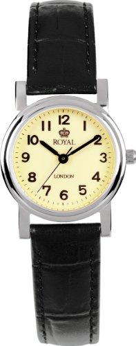 Royal London 20000-03 - Reloj analógico para mujer, correa de cuero color negro