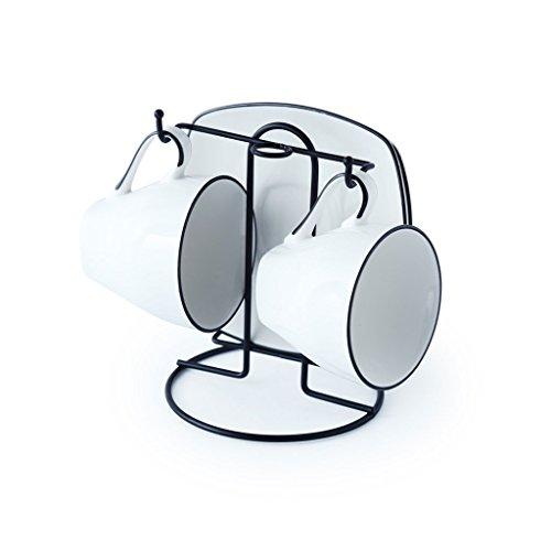 QIANDING 1112223 Royal Mark Keramik Tasse Kaffeetasse Set Kombination 4-6 Stück Set Mit Dish Löffelhalter Cup Cup Milch Tasse (Farbe : B, UnitCount : 2)