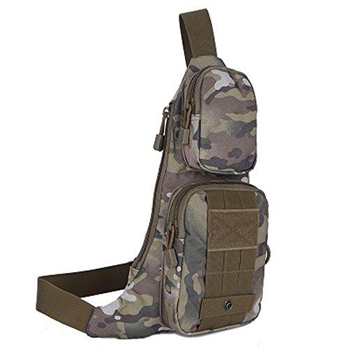 F@Impermeabile all'aperto per il tempo libero borse a tracolla, borse biciclette, petto di nylon Pack, borsa fotografica, giungla digitale campo militare Camo , black cp camouflage