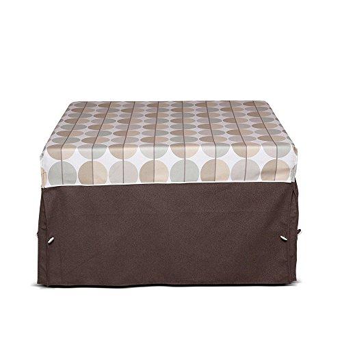 Tuoni morfeo pouf letto, rete elettrosaldata, poliuretano, tessuto, marrone ottico