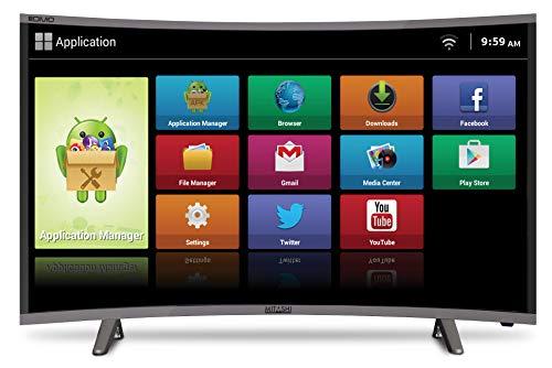 Mitashi 107.95 cm (43 inches) MiCE043V30 FS Full HD Smart Curved LED TV (Black)