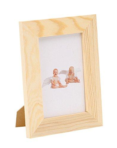 Holz-bilderrahmen Dekorieren Zum (Glorex GmbH 6 1683 401 Bilderrahmen aus Kiefernholz mit Glasscheibe, FSC Mix, ca. 15 x 19,5 x 3 cm)