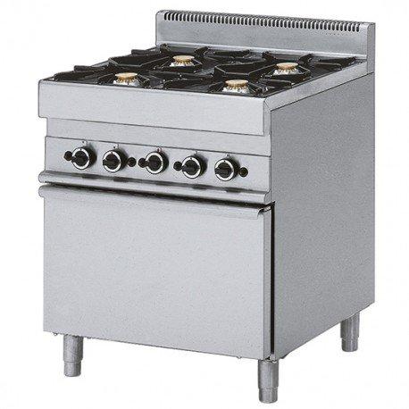 cuisinière à gaz, 4 brûleurs, 1 four à gaz