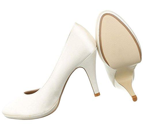 Damen Pumps Schuhe High Heels Stöckelschuhe Stiletto Beige Multi 36 V5lvUzF
