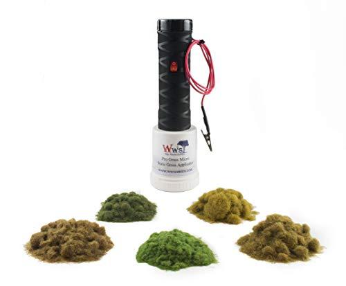 War World Scenics Applicatore Erba Statica PRO Grass Micro con Kit Massicciata - Modellismo Ferroviario Modello Diorama Terreno