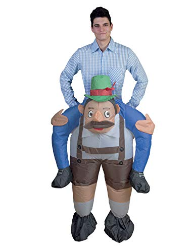 Tiroler Kostüm - TrendClub100® Aufblasbares Tiroler Kostüm mit Ventilator (Tiroler)