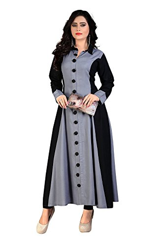 Karm Enterprise Women's Cotton Kurties And Dress (Grey)
