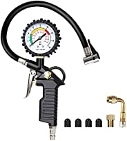 URAQT Manometro Presion Neumaticos, Manómetro Digital, Manómetro de Neumáticos, Medidor de Presión de Neumátic