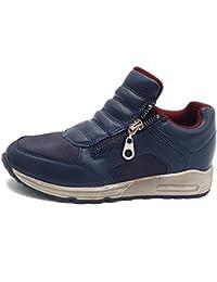 Shoes scarpe bimbo bambino per Inverno Autunno sportive casual comode sneakers da ginnastica con lacci colore rosso