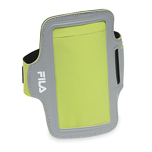 FILA Accessories Running Sports Arm Band Phone Holder with Screen Protector for iPhone, Samsung Galaxy